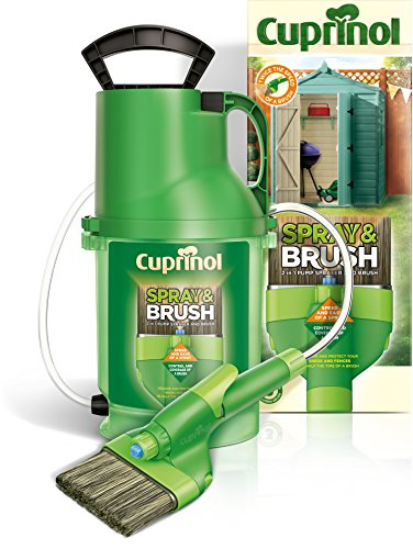 Photo of cuprinol 6133940 Spray & Brush Pump MPSB 2-in-1 Shed and Fence Paint Sprayer, Green