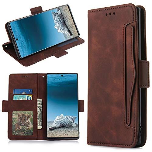 QiongniAN Cover per Samsung Galaxy Note 10+ 5G,Custodia per Samsung SM-N976V Galaxy Note 10+ 5G / SM-N976U SM-N976B SM-N976N SM-N9760 Custodia Case Cover Brown