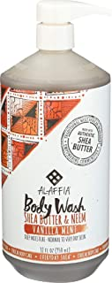 Alaffia Everyday Shea Body Wash - Naturally Helps Moisturize and Cleanse without Stripping Natural Oils with Shea Butter, Neem, and Coconut Oil, Fair Trade, Vanilla Mint, 32 oz