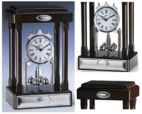 Orologio al Quarzo da Tavolo a VETRINETTA Altezza Cm.23 in Stile i 400 Giorni del 1930 Struttura in Legno...