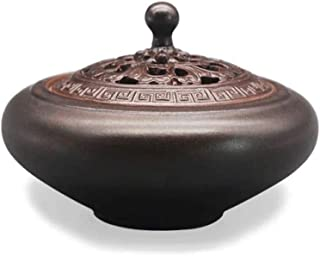 セラミック香炉アンティークロータス香ホルダーヴィンテージマルチコイル香炉ホームインテリアクリエイティブ装飾瞑想 (サイズ : 4.25*2.95inchs)
