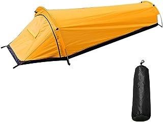 XKMY Perfekt för camping ultralätt tält ryggsäck tält utomhus camping sovsäck tält lätt enkel person bivvy bagage tält (fä...
