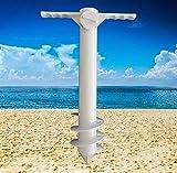INNOLITES Beach Umbrella Sand Anchor with Heavy Duty Multi-Tier Screw Design, One Size Fits All Beach Umbrella for High Winds