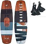 WAKETEC Wakeboard-Set Play mit OnSet Bindung, Package für Anfänger und Fortgeschrittene, 134 cm 139 cm, leicht zu fahren, Körpergewicht 40-85 kg, Kinder...
