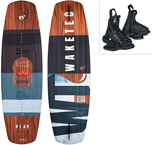 WAKETEC Wakeboard-Set Play mit OnSet Bindung, Package für Anfänger und Fortgeschrittene, 134 cm 139 cm, leicht zu fahren, Körpergewicht 40-85 kg, Kinder Erwachsene Einsteiger, Größe:L-XL, Länge:139 cm