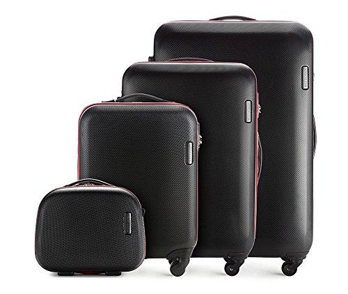 WITTCHEN Koffer – Großer | hartschalen, Material: ABS | hochwertiger und Stabiler | Schwarz | 94 L | 81x54x28 cm
