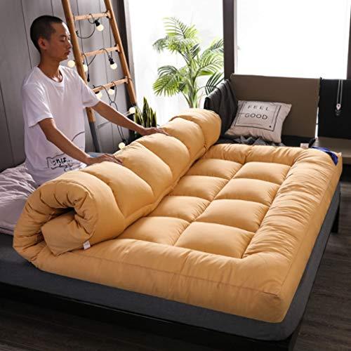 GLzcyoo Double Simple étage Matelas Japonais, étudiant Dortoir Pliant Matelas, futon étage Matelas, Doux et Respirant Tatami Fold Futon, Lit Japonais Rouleau 10cm (Color : A, Size : 1 * 2m)