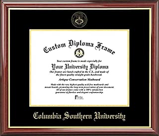 Laminated Visuals Columbia Southern University - Embossed Seal - Mahogany Gold Trim - Diploma Frame