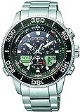 CITIZEN Herren Analog-Digital Eco-Drive Uhr mit Edelstahl Armband JR4060-88E