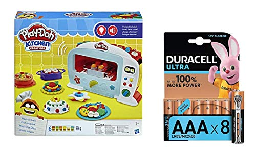 Play-Doh Lot Pate A Modeler - Le Four Magique + Duracell Ultra Power Piles Alcalines Type...