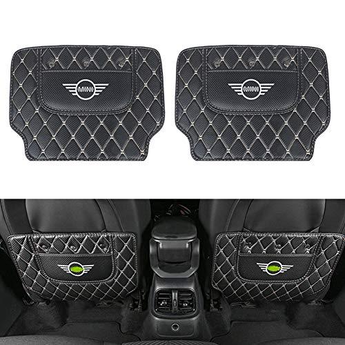 Asiento posterior del coche Volver anti sucio Pad Mat deflector de fibra de carbono pegatinas Compatible con Mini Cooper S F54 F55 F56 F57 F60 R55 R56 R57 R60 R61 JCW