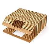 Nihlssen Bolso Tejido de bambú con Forma Cuadrada de Color sólido, Bolso...