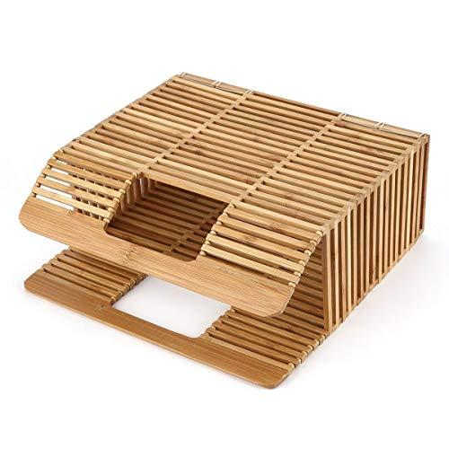Nihlssen Bolso Tejido de bambú con Forma Cuadrada de Color sólido, Bolso único Ahuecado de Moda para Mujer para Viajar de Compras