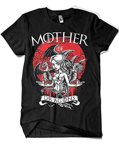 1500-Camiseta Game of Thrones - Mother of Dragons (Negra, M)