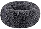 SAVFOX Long Plush Comfy Calming & Self-Warming Orthopedic Bed for Cat & Dog, Anti Anxiety, Furry, Soothing, Fluffy, Washable, Abbyspace, Untra Soft, Marshmellow Pet Donut Cuddler Bed