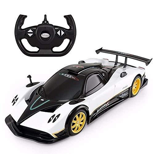 Elektro-Auto-Kinder Drahtlose Fernbedienung Racing Drift Open Door Fahrzeug Spielzeug beste Geschenk RC Sports Car 1.14 RC Electronic Sports Race Modell 2,4 GHz Radio Controlled (Farbe: weiß) yqaae