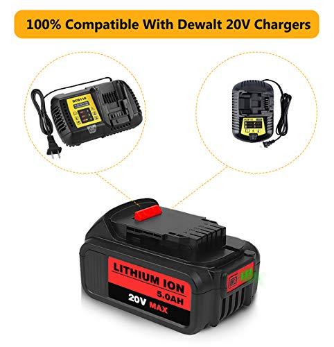Product Image 3: 6Packs 20Volt 5.0Ah DCB204 DCB205 Replacement Battery for Dewalt 20V Battery Lithium XRP Compatible with DCB204 DCB205 DCB206 DCB205-2 DCB200 DCB180 DCD985B DCD771C2 DCS355D1 DCD790B