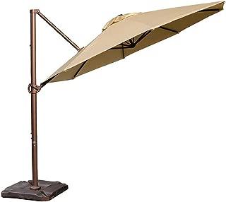 Abba Patio Sunbrella Offset Cantilever 11-Feet Outdoor Patio Hanging Umbrella with Cross Base, Sand