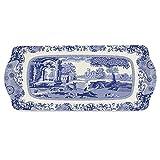 Spode Azul Azul Italiano Italiano Bandeja Sandwich 38.5cm x 16.5cm