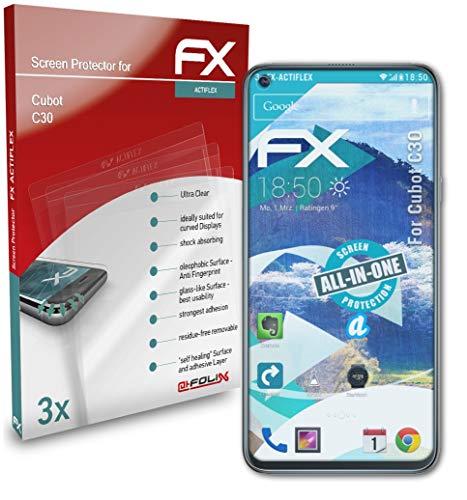 atFolix Schutzfolie kompatibel mit Cubot C30 Folie, ultraklare und Flexible FX Displayschutzfolie (3X)