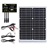 SUNER POWER 20 Watts Mono Crystalline 12V Off Grid Solar Panel Kit - Waterproof 20W Solar Panel +...
