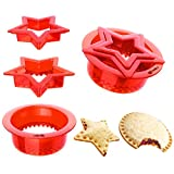 3 PCs Uncrustables Peanut Butter and Jelly Sandwiches Pie Cutter for Kids, YUMKT Star Round Sandwich...