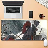 アニメナルトマウスパッドナルトサスケカカシキーボードパッドコンピュータゲーム滑り止めベース-Naruto69||800x300mm