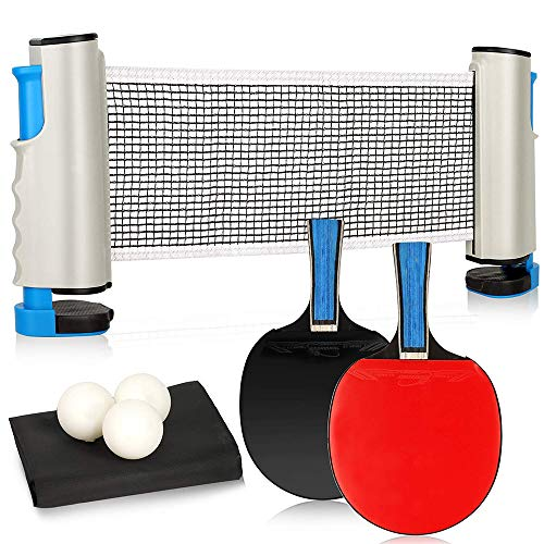 Why Should You Buy Bocotous Portable Ping Pong Sets Table Tennis Set Retractable Table Tennis Nets P...
