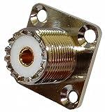 AERZETIX: Adaptador Enchufe UHF SO-239 Hembra para chasis Panel C11268