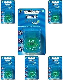 Oral-B Statin Tape Dental Floss 25m (6 Units) by Oral-B Satin Tape Mint