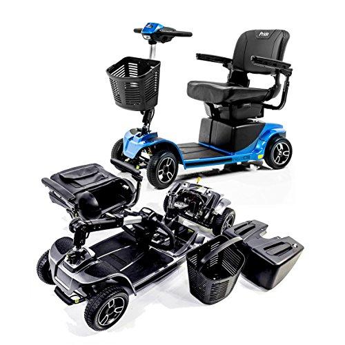 Revo 2.0 4-Wheel Pride Mobility Electric Scooter S67 + Challenger Folding Rear Basket J950