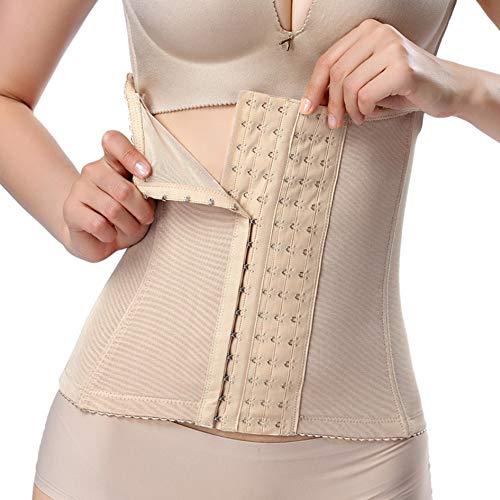 Sfigur Shapewear Damen Bauchweg Taillenformer Korsett, atmungsaktiv Corsage verstellbar Bauchkontrolle Korsage mit 6-reihigem Verschluß Unterbrust