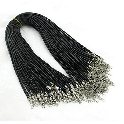 Cadena cuero 4 mm collar steckverschluss collar cadena colgante *** TOP ***