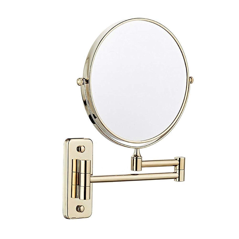 リア王失効プロトタイプバスルームミラーウォールマウント両面3x拡大化粧鏡8インチバニティミラー360度自由回転美容化粧/バスルーム用化粧鏡シャビンg