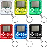 Sumind 12 Pieces Brick Game Console Keychain Mini Brick Game Keychain Classical...