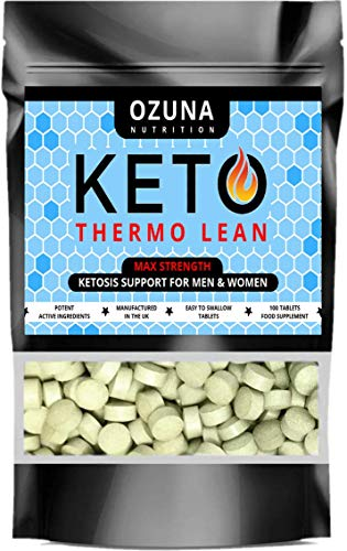 Keto Thermo Lean Diet Pills with Matcha Advanced Fat Burners Weight Loss Pure Ketosis | 100 Tablets