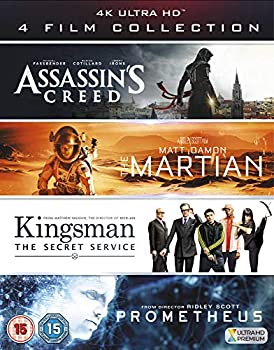 4K UHD Film Collection  Assassin s Creed The Martian Kingsman & Prometheus  [4K Blu-ray] [2017]