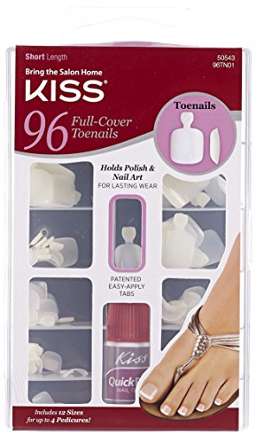 Kiss Products Full Cover Toenails, 96 Count