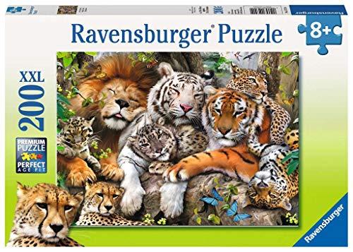 Ravensburger-La Siesta dei Felini Puzzle per Bambini, Multicolore, 200 Pezzi, 12721