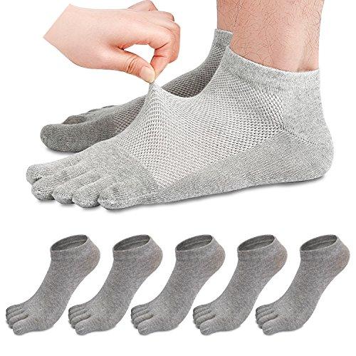 REKYO 5 Pares Hombres Toe Calcetines Cinco Dedos Calcetines