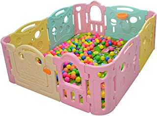 Baby Care Playpen Baby Safety Fence - Banister Kids Activity Safety Play Centre Yard Home Indoor Outdoor(No balls)