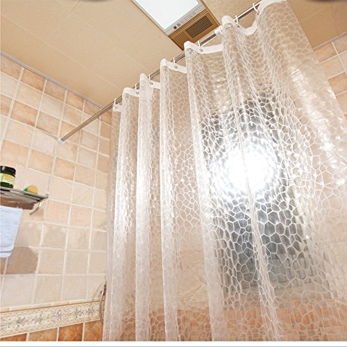 AooHome 36x72 Inch Shower Curtain Liner, EVA 3D Water Cube...