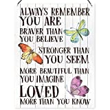 Dorothy Spring Always Remember You Are Braver Than You Believe Motivational Wall Quote Plaque Metal Sign Size 15x20cm