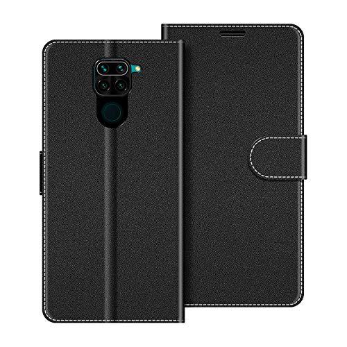 COODIO Funda Xiaomi Redmi Note 9 con Tapa, Funda Movil Xiaomi Redmi Note 9, Funda Libro Xiaomi Redmi Note 9 Carcasa Magnético Funda para Xiaomi Redmi Note 9, Negro