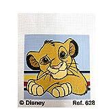 Haberdashery Online Kit Medio Punto para niños, 18 x 15 cms. Colección El Rey León - Modelo 628