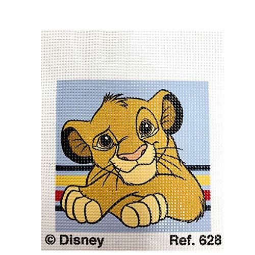 Haberdashery Online Kit Mezzo Punto per i Bambini, 18x15 cm. Collezione Il Re Leone - Modello 628