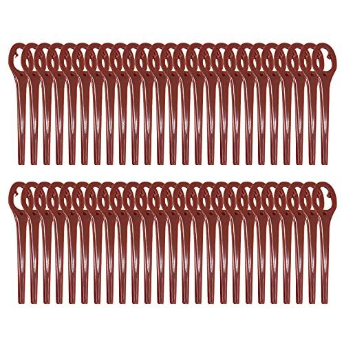 50 PCS Lama in plastica per tosaerba, ricambio per rifinitore per coltelli in plastica, 90 mm per...