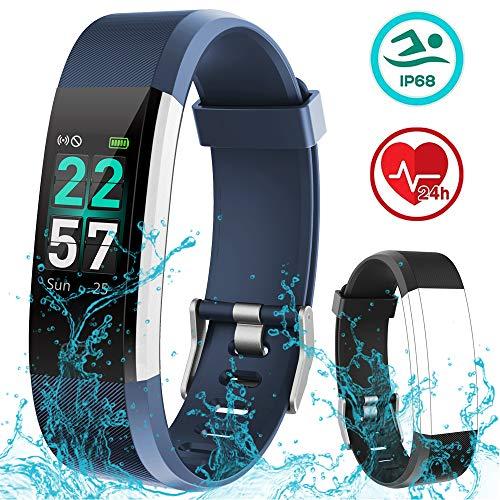 Rayfit Pulsera Actividad Inteligente Reloj Deportivo Impermeable Fitness Tracker Monitor de Ritmo Cardíaco Podómetro Contador de Calorías Pasos Monitor de Sueño Pulsómetros para Niños Mujeres Hombres