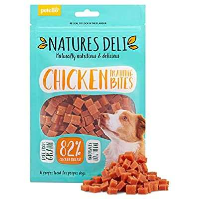 Natures Deli Chicken Training Bites Dog Treats - Training aid, Nutritious, Naturally Low Fat, Bite Sized - 100g