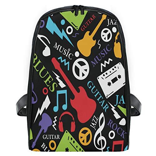 ZZXXB Muziek Opmerking Gitaar Rugzak Kids Peuter Kind Kleuterschool Waterdichte Boek Tassen Reizen Daypack voor Jongens en Meisjes